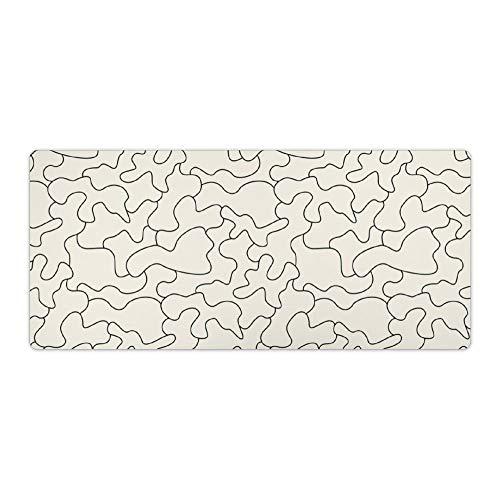 Desk Mat Ontgrendeld Naadloze Camouflage Patroon Tegel Achtergrond Rubber Mat, Office Bureau Mat, Laptop Bureau Mat, Waterdichte Bureau Boek Mat, 40x90cm, Kleur: wit