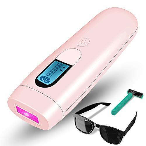 ACTION IPL Haarentfernungsgerät, Lichtbasierte Haarentfernung Professioneller mit LCD-Bildschirm für Körper, Gesicht, Bikini und Achseln, 990.000 Lichtimpulse für Frauen & Männer - Rosa