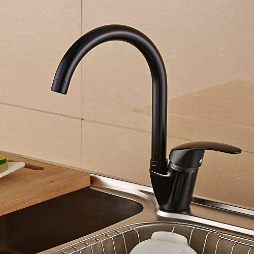 Sanlingo – Design-Küchenarmatur, schwenkbar, Schwarz - 2