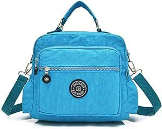 Trendy generous super cute Nylon Casual Backpack Lightweight Multi-Pocket Shoulder Bag Large Capacity Travel Bag (Color : ...