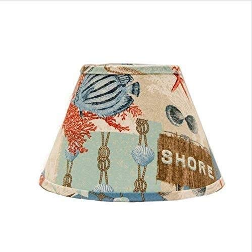 Z.L.Q Desk lamp SD1468-12WE Match Empire Lamp Shade with Washer Fitter, 12-Inches, Nautical Patchwork (Color : 12-Inches) (Color : 16-Inches)