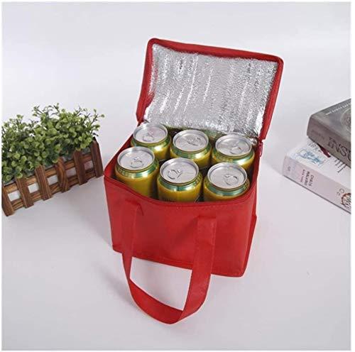 MRXW Borsa Pieghevole Notebook Cooler Borsa refrigerante PIC-nic, Un Foglio di Alluminio contenitori impacco di Ghiaccio per Bevande più mezzi costo per Le Donne Gli Uomini in Sacchetto dell'u.