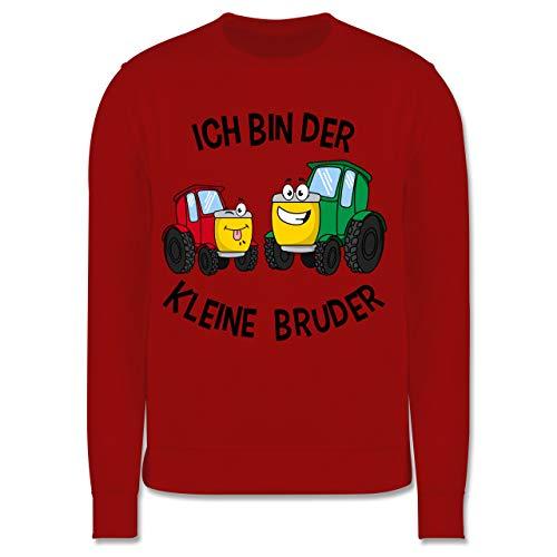 Shirtracer Geschwisterliebe Kind - Ich Bin der kleine Bruder Traktor - 128 (7/8 Jahre) - Rot - Bruder-Traktoren - JH030K - Kinder Pullover