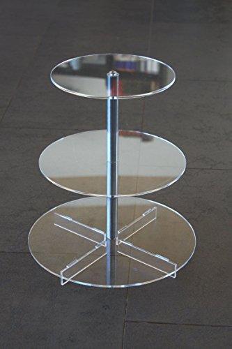 Tortenständer Tortenetagere Aluminium 3 Etagen, Hochzeitstortenständer Acryl Ø 20 25 30 cm Etagere