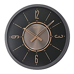Seiko Davis Clock, Gold, Black
