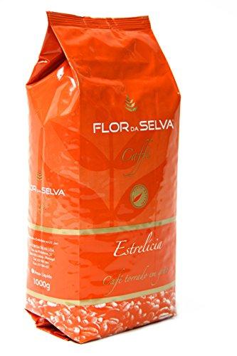 FLOR DA SELVA Caffé Estrelicia ganze Bohne, 1 x 1kg, Gourmetkaffee aus Lissabon, traditionell mit Holz geröstet, ohne Konservierungsstoffe