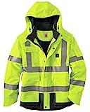 Carhartt Men's High Vis Waterproof Class 3 Insulated Sherwood Jacket,Brite Lime,X-Large