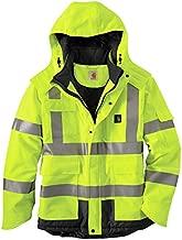 Carhartt Men's High Vis Waterproof Class 3 Insulated Sherwood Jacket,Brite Lime,Large