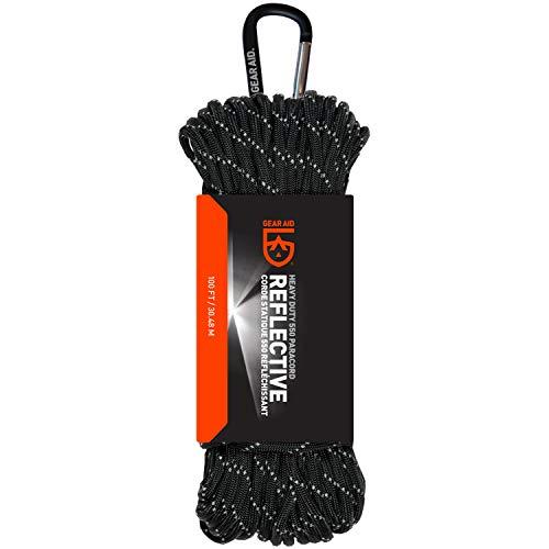 Gear Aid 80692 Para cord  550  Black/Reflective  100ft