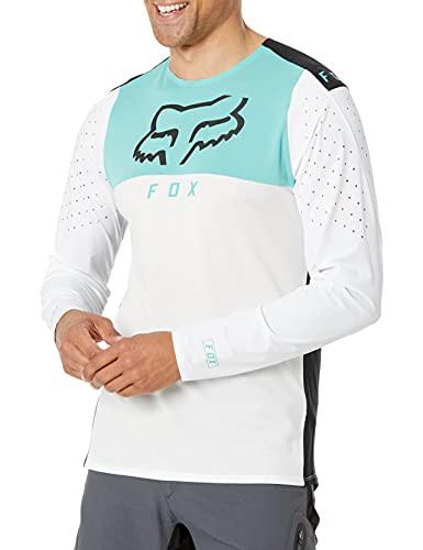 Fox Racing Herren Flexair Delta Long Sleeve Jersey Hemd, Weiß, X-Groß