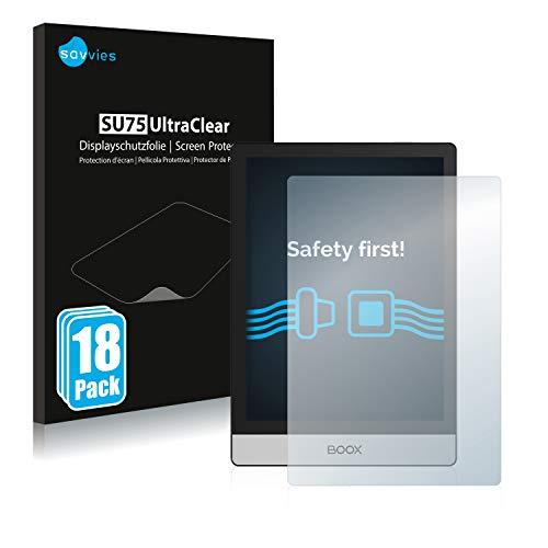 Savvies 18x Schutzfolie kompatibel mit Onyx Boox Poke 2 Displayschutz-Folie Ultra-transparent