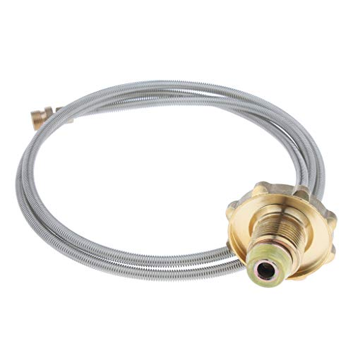Milageto 110cm Outdoor Camping Stove Propane Hose Adapter Connector Flat Gas Tank