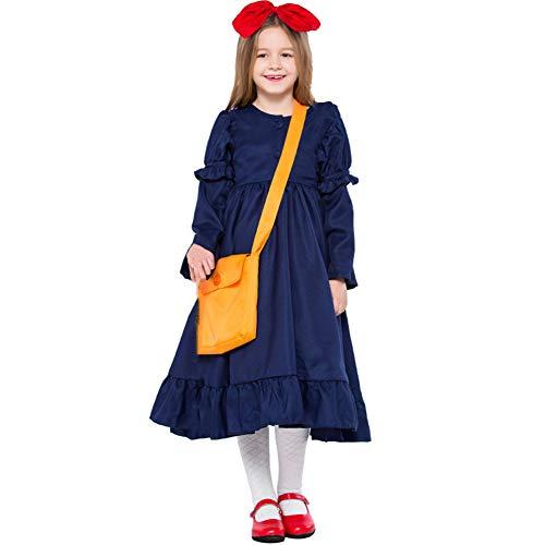 Kinderkostuums Heks Cosplay Jurk Meisjes Kleine Heks Foto Ouder-Kind Kleding XS Blauw