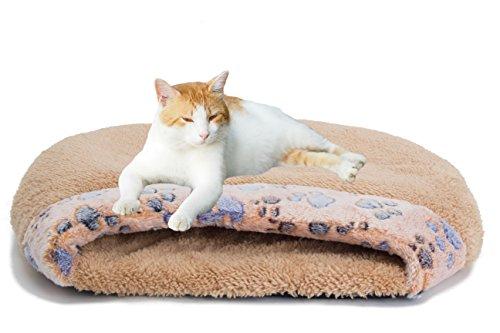 MiLuck Cama de gato para mascotas Gato Saco de dormir Suave cálido a prueba de viento Impermeable Cama para mascotas Casa para perros Gato Gatito Interior al aire libre