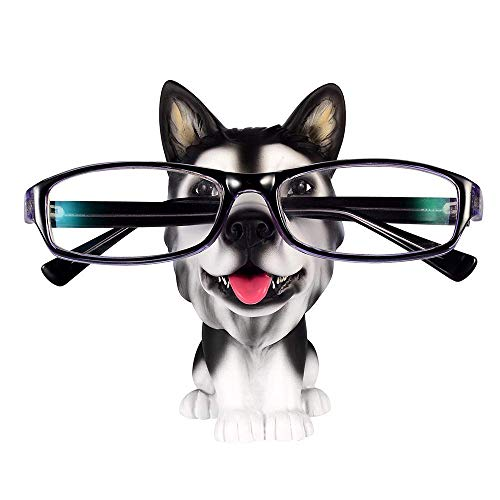 Yooce Puppy Dog Eyeglass Stand Sunglasses Holder Glasses Display Home Decor for Desk Husky