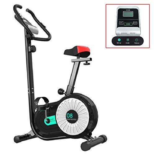Best Deals! Household excersize Bike Magnetic Spinning Bike Silent Fitness Exercise Load-Bearing 110KG Adjustable Lift seat (Color : Black, Size : 9253144cm)