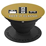 Keep It Classic Data Storage Vintage Video Gamer Gaming Gift PopSockets Support et Grip pour Smartphones et Tablettes