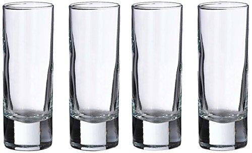 "Lillian Rose Set of 4 Tall Shot Glasses, 4"", Clear"
