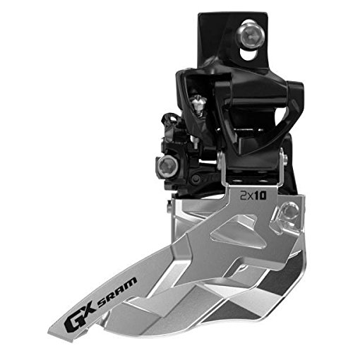 Sram MTB GX 2 x 10 High Direct Mount 34t Top Pull - Desviador para Bicicletas, Color Negro