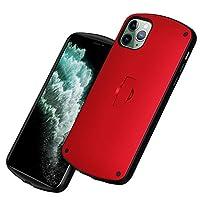 Facecolor スマホケース iPhone12 Pro Max ケース 6.7インチ用 内蔵式伸縮ブラケット リング付き スタンド付き 二重構造 耐衝撃 シリコン スマホケース ワイヤレス充電対応 フロステッド マット 人気 Insスタイル おしゃれ 携帯カバー アイフォン12promax 用カバー 保護バンパー レッド