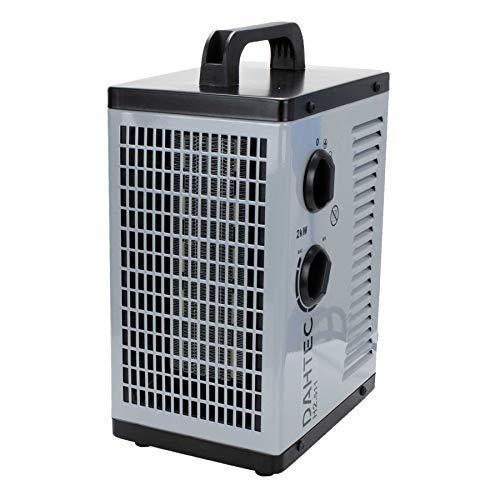 DAHTEC - H2.511 - Termoventilatore Ceramico 2KW 2000 Watt - 2 Impostazioni Di Calore, 1 Velocità Ventilatore - Per Casa, Appartamento, Ufficio, Officina, Campeggio, Campeggio, Garage …