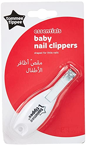 Tommee Tippee Essentials Baby Nail Clippers, Rounded Edges and Moulded Handle, 0m+