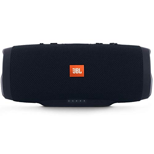 JBL Charge 3 Stealth Edition Speaker Bluetooth Portatile Cassa Altoparlante Bluetooth Waterproof IPX7 con Microfono, Porta USB, JBL Connect+ e Bass Radiator, fino a 20 h di Autonomia, Nero