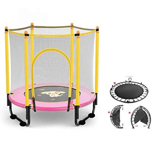 M-YN Kids Trampoline with Enclosure Net, 1.4m/55inch High Elasticity Trampoline with Safety Enclosure,- Indoor Outdoor Trampoline for Toddler, Kids, Kids Fitness Trampoline