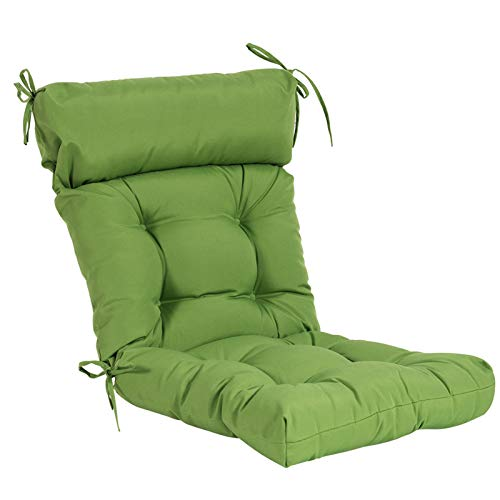 QILLOWAY Indoor/Outdoor High Back Chair Cushion,Spring/Summer Seasonal All Weather Replacement Cushions. (Green)