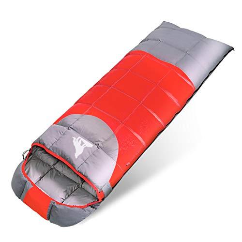CATRP Amoureux du Sac de Couchage Adulte Épaissir intérieur Camping en Plein air (Color : Red, Size : 2.2kg)