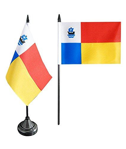 Tischflagge / Tischfahne Niederlande Stadt Almere + gratis Aufkleber, Flaggenfritze®