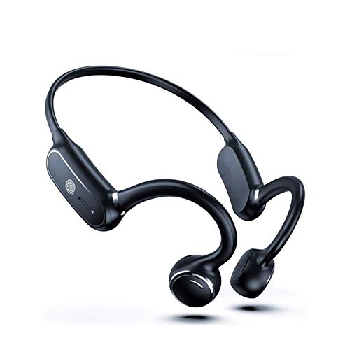 HKJZ SFLRW Auriculares de conducción ósea, Auriculares Deportivos inalámbricos de Oreja Abierta Bluetooth 5.0 Auriculares Ligeros a Prueba de luz con micrófono para Correr para Correr Ciclismo
