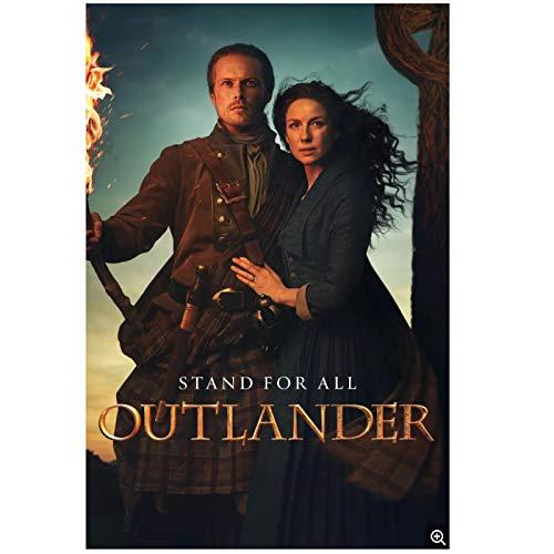 KONGQTE Outlander Staffel 5 Filmplakat und Drucke Wanddekoration für Wohnzimmer Bürodekor Einzigartige Kunstwerke Druck Leinwand-20x28 Zoll No Frame