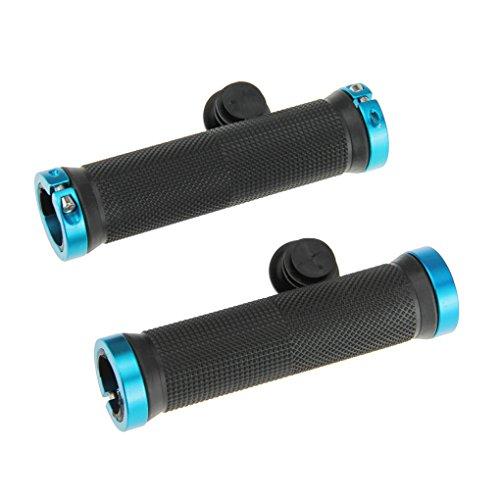 Fahrradgriffe Lenkergriffe Schraubgriffe Softgriffe Lock-On Anti Rutsch Fahrrad Lenkstange Griff Grips Griffe für MTB BMX(Blau) × 2
