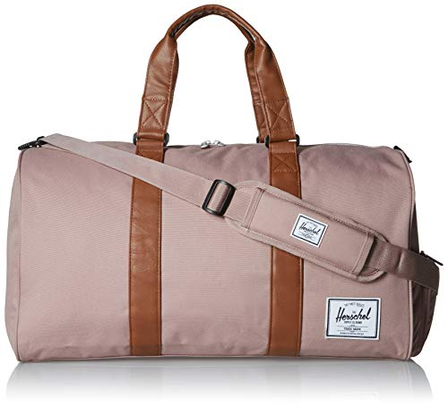 Herschel Novel Duffel Bag, Deep Teal/Tan Synthetic Leather, Mid-Volume 33.0L