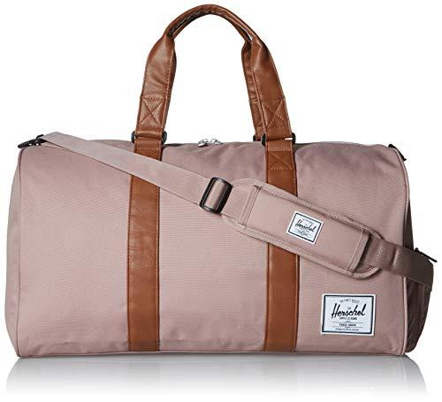 Herschel Novel Duffel Bag, Ash Rose/Tan Synthetic Leather, Classic 42.5L