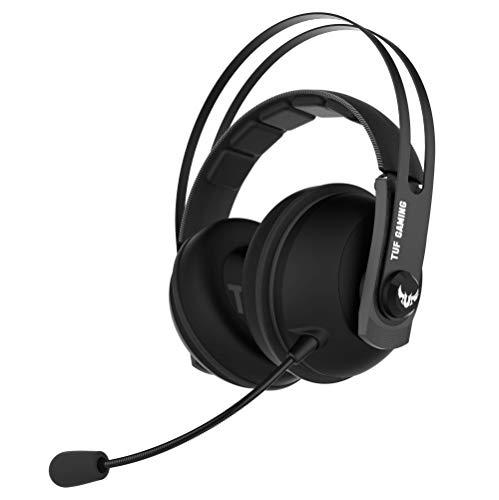 ASUS TUF Gaming H7 Wireless Cuffie su PC e PS4, Audio virtuale 7.1 integrato, Robusta fascia in acciaio, colore Nero.