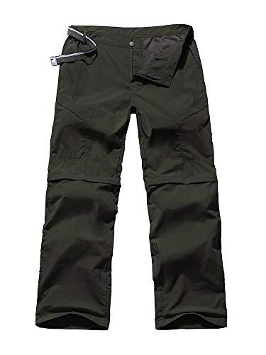 Asfixiado Damen-Wanderhose, schnelltrocknend, Stretch, leicht, für den Außenbereich, UPF 40, Angeln, Safari, Reisen, Camping, Cargo-Hose, #603 Grün-34