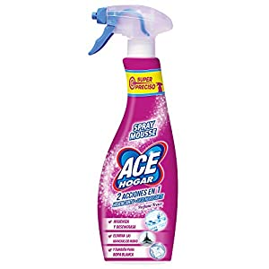 Ace - Spray Mousse + Lejía desengrasante - Hogar y ropa - 700 ml