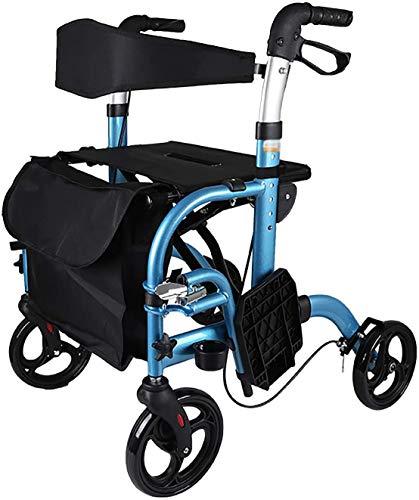 L&WB Rollator Walker Plegable con Tapicería, Reposabrazos Y Asiento, Movilidad De Rolling Walky Ayuda con Respaldo, Caminante Carrito De Compras para Personas Mayores, Adultos Mayores