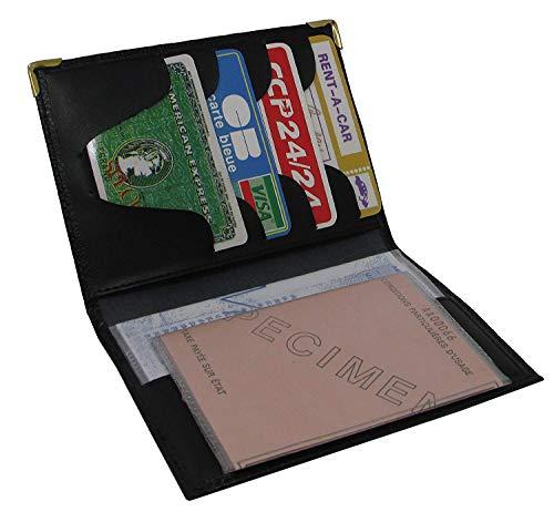 MAMJACK - Custodia in pelle per carte di credito e carte di credito, Nero (Nero) - .