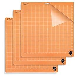 Bright Idea Supplies Standard Grip Cutting Mats 12×12 Replacement Cutting Mat for Cricut Explore One/Air/Air 2/Maker – 3…
