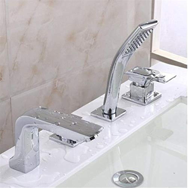 Mischbatterie Brause Drehbar Bad Spültisch Armatur F6Copper High-End-Warm- Und Kaltwasserhahn Wc-Dusche Wasserhahn Kupfer Warm- Und Kaltwasserhhne Bad Dusche 4Er-Set