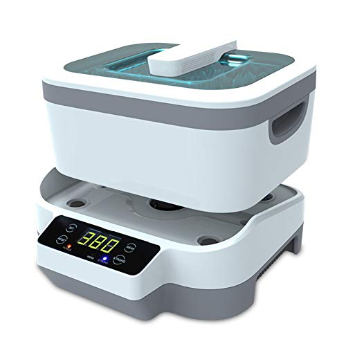 Mini Machine à Laver à ultrasons à la Maison, capacité de 1,2 Litre, 50KHZ, utilisée pour Les Lunettes, Regarder Les Bijoux de dentier Les Bijoux en Diamant la désinfection à la Vapeur et