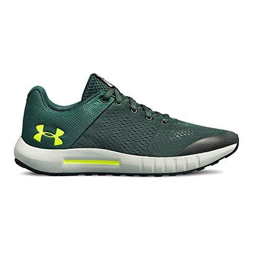 UNDER ARMOUR Boys' Grade School Pursuit Sneaker, Toddy Green (301)/Ivy, 7