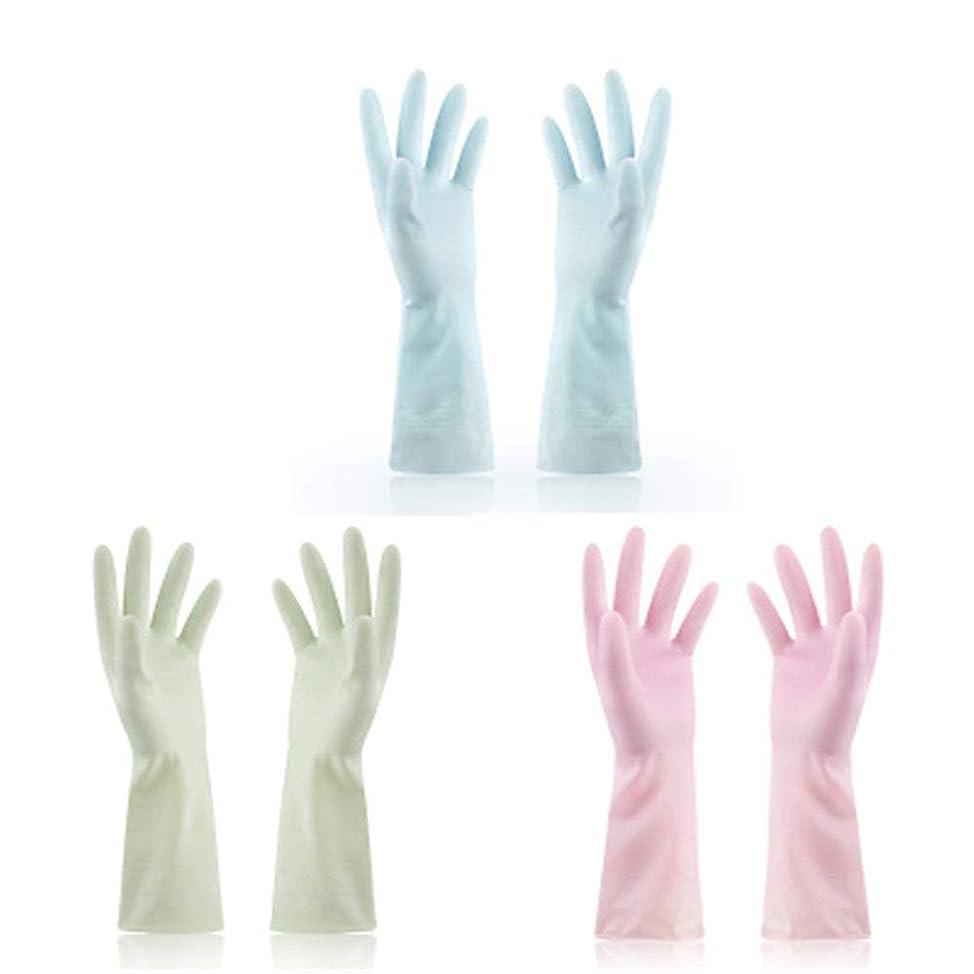 ボット有効化今使い捨て手袋 使い捨て手袋防水ラテックス焦げ付き防止ゴム製ゴム製台所手袋、3組 ニトリルゴム手袋 (Color : Multi-colored, Size : M)