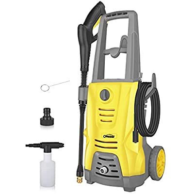 Oasser Electric Pressure Washer Car Power Washer 1400W 125bar 380L/H Portable Car Washer Machine with Spray Gun 5pcs Nozzle 5M High Pressure Hose CW5 from Oasser