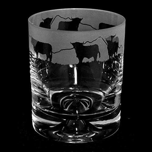 Seasonal Wrap Introduction Animo Glass Whisky Popular product Tumbler- Highland Cattle 300ml