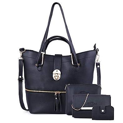 Shining Star Women's Handbag With Sling Bag & Clutch,Card Holder (Set of 4)
