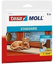 PRIJS BESPAREN! 3x tesamoll ® Foam PVC raam/deurafdichting bruin afhankelijk van 6m/9mm/1-3, 5mm